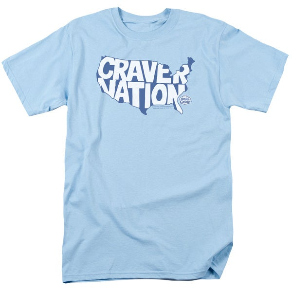 White Castle/Craver Nation Short Sleeve Adult T-Shirt 18/1 in Light Blue
