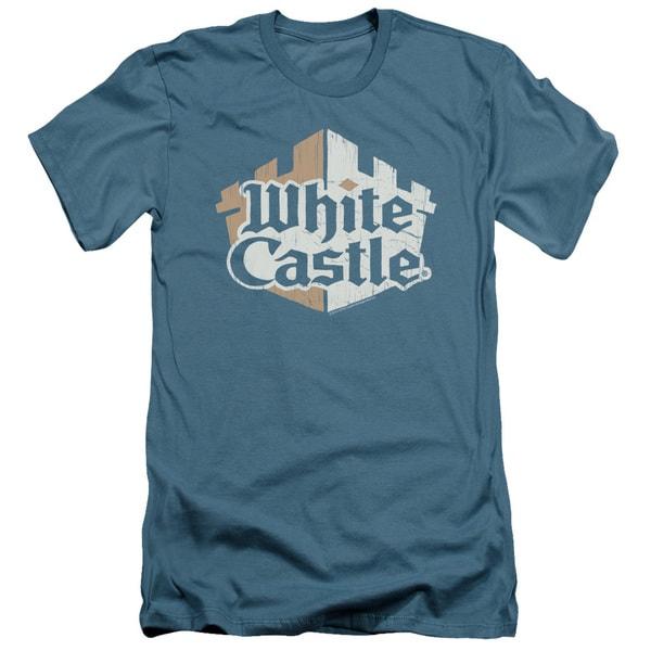 White Castle/Torn Logo Short Sleeve Adult T-Shirt 30/1 in Slate