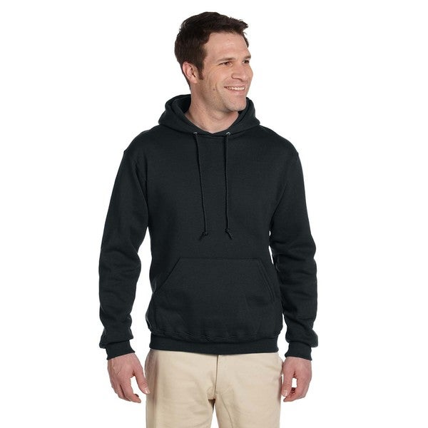 Men's 50/50 Super Sweats Nublend Fleece Black Pullover Hood (XL)