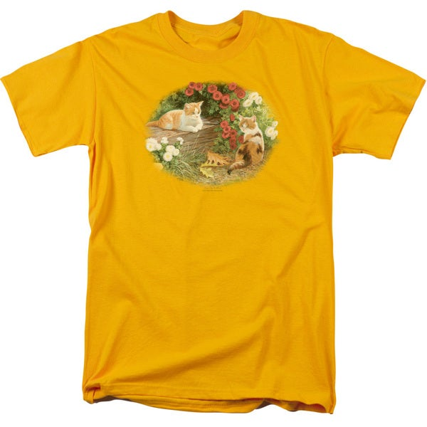 Wildlife/Kittens and Mums Short Sleeve Adult T-Shirt 18/1 in Gold