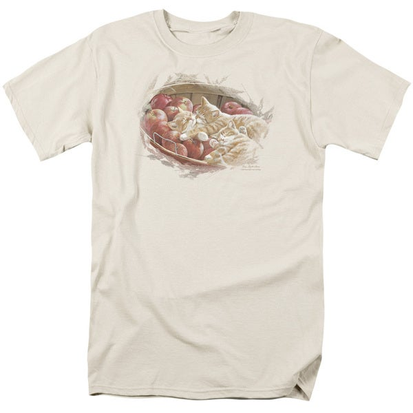 Wildlife/Apples and Oranges Short Sleeve Adult T-Shirt 18/1 in Cream