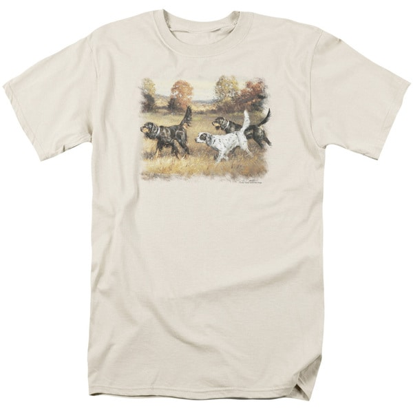 Wildlife/Three Setters Short Sleeve Adult T-Shirt 18/1 in Cream