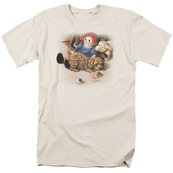 Wildlife/Fun and Games Short Sleeve Adult T-Shirt 18/1 in Cream