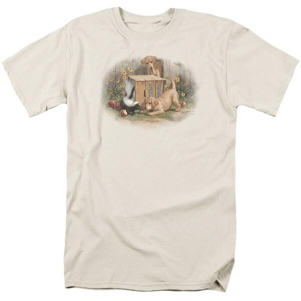 Wildlife/Don't Talk To Strangers Short Sleeve Adult T-Shirt 18/1 in Cream