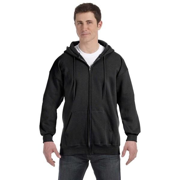 Men's Ultimate Cotton 90/10 Full-Zip Hood Black Pullover Hood