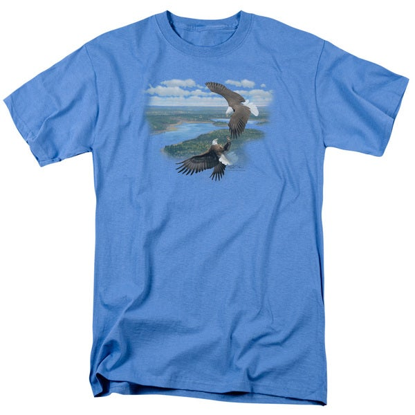 Wildlife/Sky Dancers Short Sleeve Adult T-Shirt 18/1 in Carolina Blue