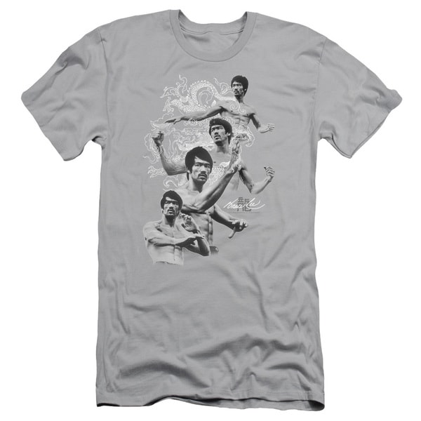 Bruce Lee/In Motion Short Sleeve Adult T-Shirt 30/1 in Silver