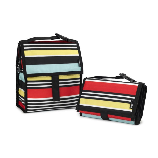 PACKiT Freezable Surf Stripe Lunch Bag