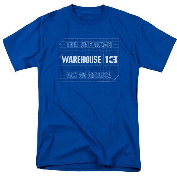 Warehouse 13/Blueprint Logo Short Sleeve Adult T-Shirt 18/1 in Royal Blue