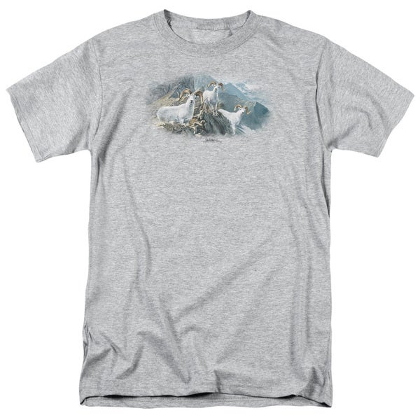 Wildlife/High Trails Dall Sheep Short Sleeve Adult T-Shirt 18/1 in Heather