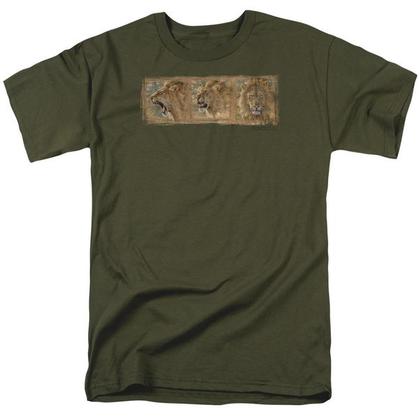 Wildlife/Mood Swing Short Sleeve Adult T-Shirt 18/1 in Military Green