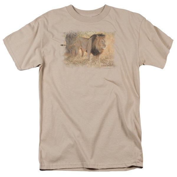 Wildlife/Shumba in The Grass Short Sleeve Adult T-Shirt 18/1 in Sand