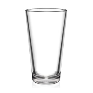 BarLuxe 16 ounce The Pint 6-Piece Unbreakable Pint Glasses Set