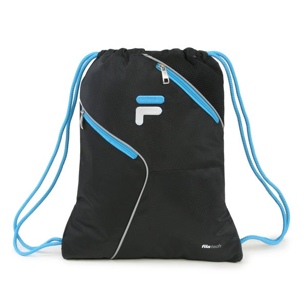 Fila X11 Black Sackpack Drawstring Backpack