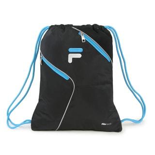 Fila X11 Black Sackpack Drawstring Backpack