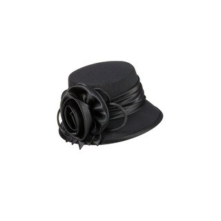 Giovanna Signature Women's Satin Flower Trimmed Hat
