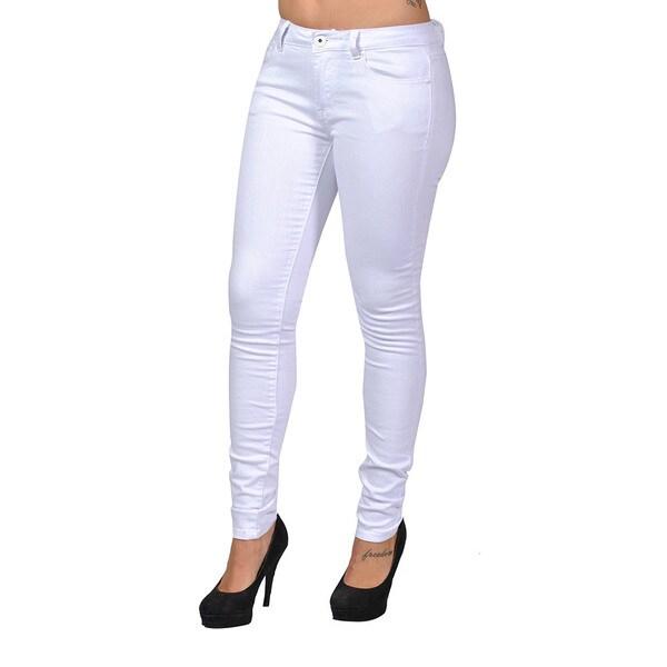 C'est Toi White Denim 4-pocket Skinny Jeans