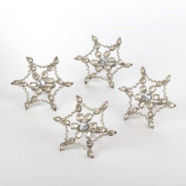 Napkin Ring Collection Snowflake Design Napkin Ring (Set of 4)