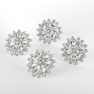 Jeweled Snowflake Design Napkin Ring (Set of 4)