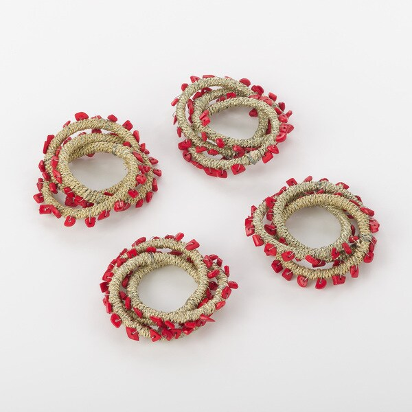 Napkin Ring Collection Beaded Napkin Ring Design (Set of 4) 20090882