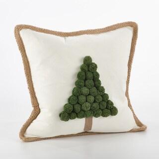 Ricamato Collection Xmas Tree Throw Pillow - FLD
