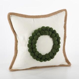 Ricamato Design Wreath Design Throw Pillow - FLD