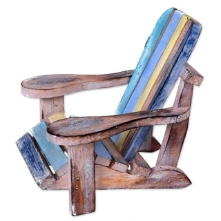 Handcrafted Albesia Wood 'Beach Chair' Decorative Accent (Indonesia)
