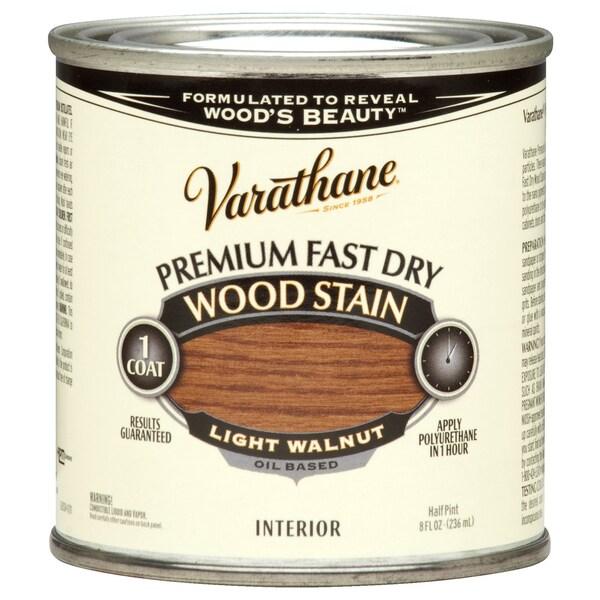 Varathane 262034 1/2 Pint Light Walnut Fast Dry Wood Stain