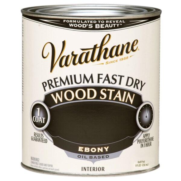 Varathane 269400 1/2 Pint Ebony Fast Dry Wood Stain