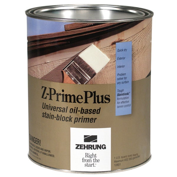 Zehrung 12804 1 Quart Z-Prime Plus Universal Oil Based Stain Block Primer