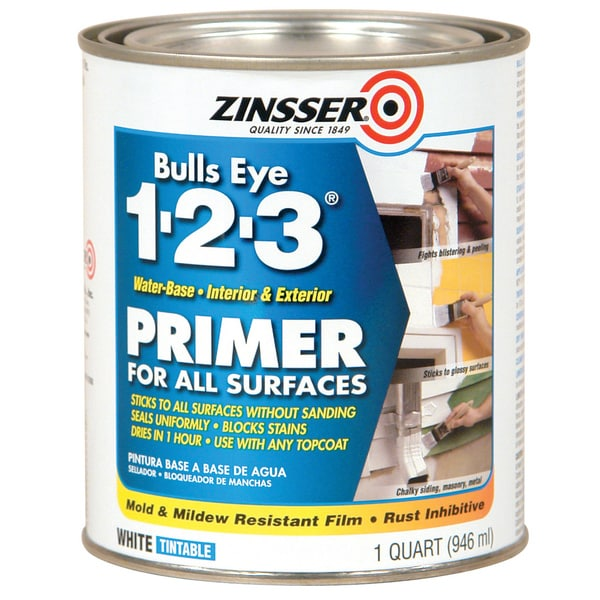 Zinsser 02004 1 Quart Bulls Eye 1-2-3 Primer Sealer Stain Killer