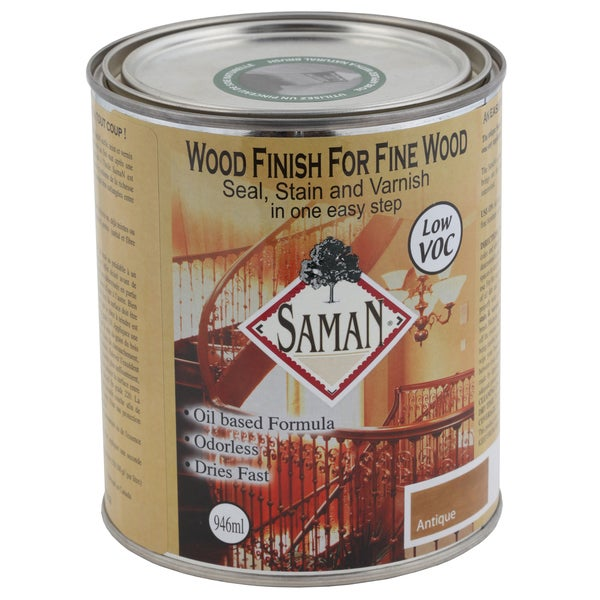 Saman Products SAM-301-1L 946 mL Antique Wood Finish Seal, Stain & Varnish