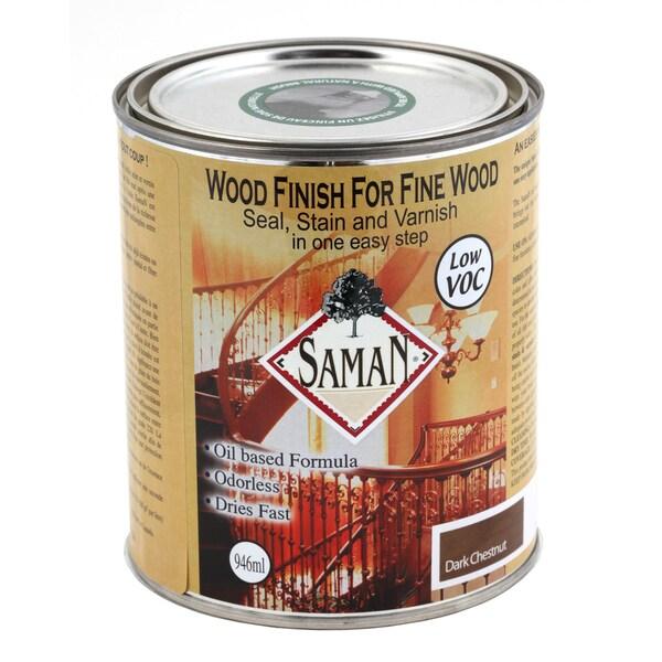 Saman Products SAM-308-1L 946 ML Dark Chestnut Wood Finish Seal, Stain & Varnish