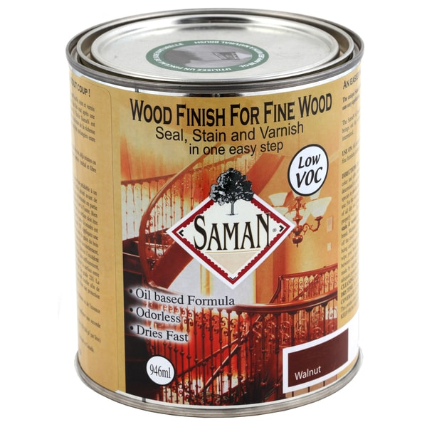 Saman Products SAM-309-1L 946 ML Walnut Wood Seal, Stain & Varnish Finish
