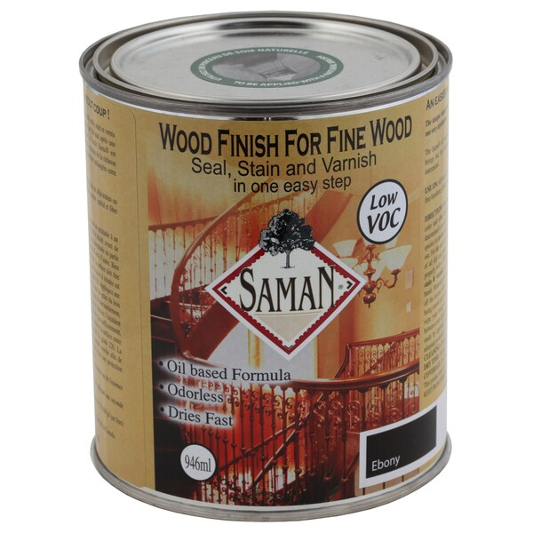 Saman Products SAM-318-1L 946 ML Ebony Wood Finish Seal, Stain & Varnish