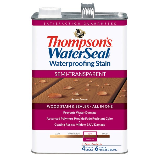 Thompsons Waterseal 42841 Semi-Transparent Acorn Brown WaterSeal Waterproofing Stain