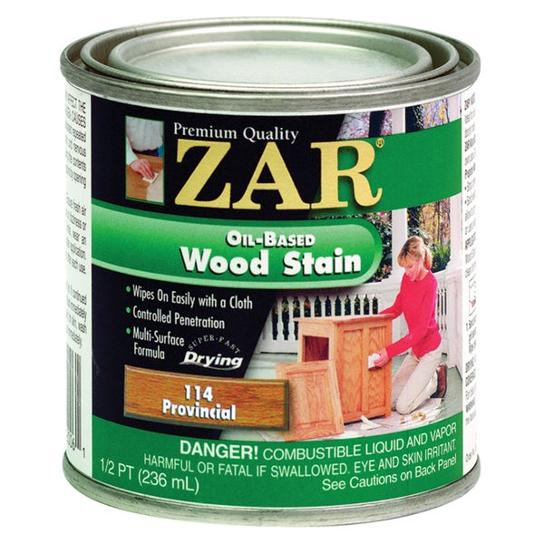 Zar 11406 1/2 Pint Provincial Zar Oil Based Wood Stain