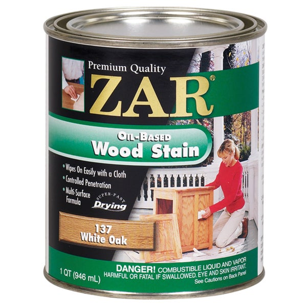 Zar 13712 1 Quart White Oak Oil Based Wood Stain