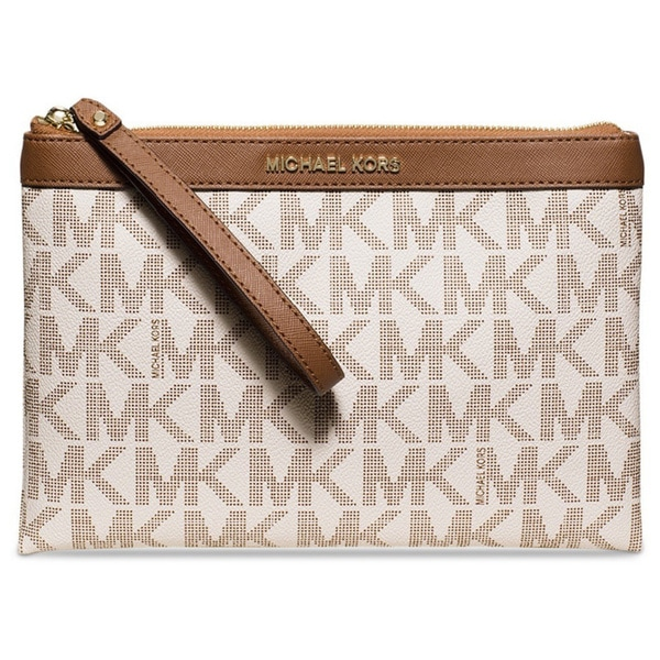 Michael Kors Signature Tech Zip Clutch