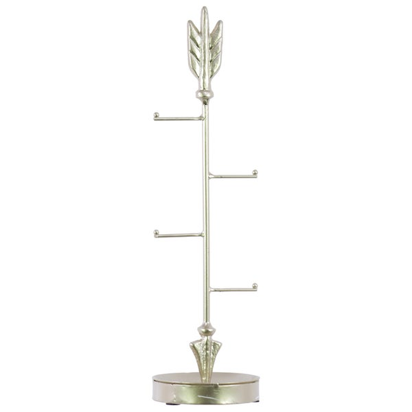 Urban Trends Collection Metal Gold Finish Directional Arrow Jewelry Stand