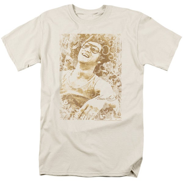 Bruce Lee/Freedom Short Sleeve Adult T-Shirt 18/1 in Cream