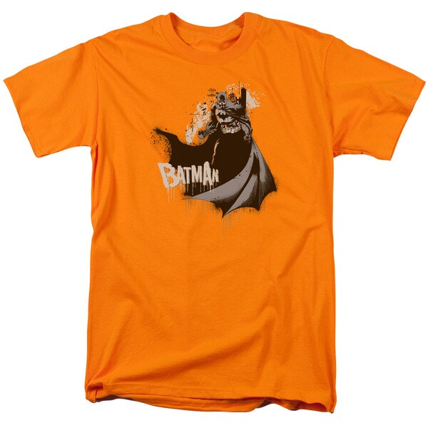 Batman/The Drip Knight Short Sleeve Adult T-Shirt 18/1 in Orange
