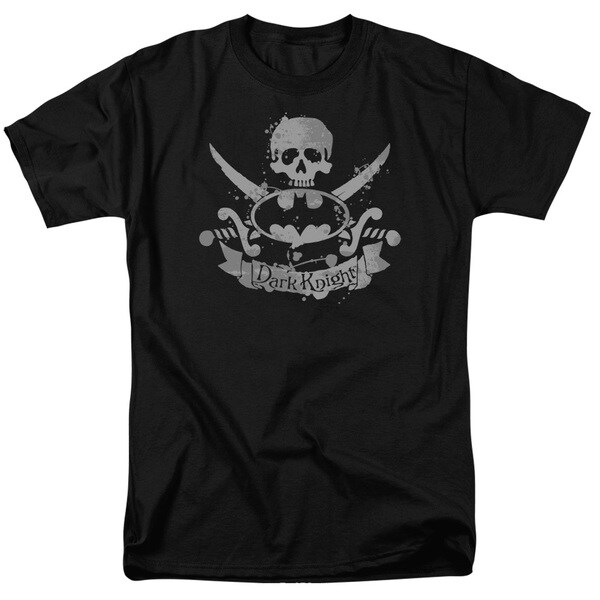 Batman/Dark Pirate Short Sleeve Adult T-Shirt 18/1 in Black