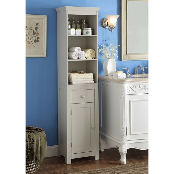 Rancho Grey Wood Tower Cabinet