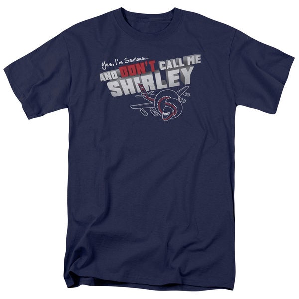 Airplane/Dont Call Me Shirley Short Sleeve Adult T-Shirt 18/1 in Navy