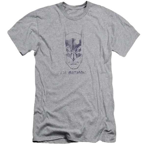 Batman/I'M Batman Short Sleeve Adult T-Shirt 30/1 in Heather