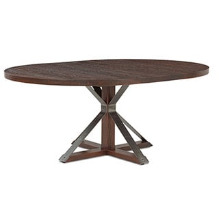 Cambridge Burnt Oak 54-inch Oval Dining Table