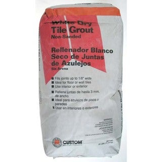 Custom Building Products WDG25 25 Lb White Dry Non-Sanded Tile Grout