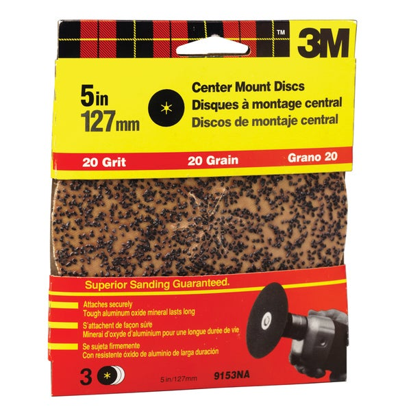 "3M 9153DC-NA 5"" Extra Coarse Center Mount Discs"