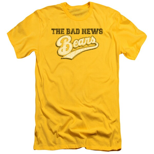 Bad News Bears/Logo Short Sleeve Adult T-Shirt 30/1 in Yellow